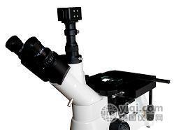 电脑三目倒置金相显微镜4XDE